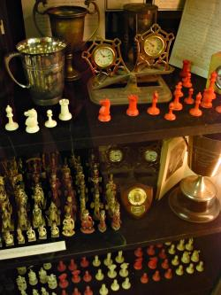 Trophy cabinet, sets and clocks